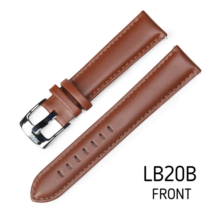 Svalbard leather watch strap LB20B (front side)