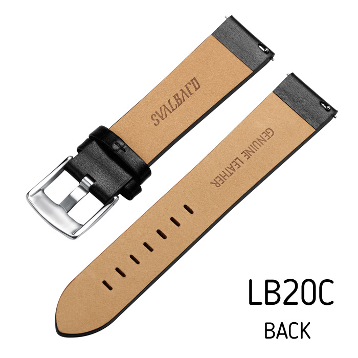 Svalbard leather watch strap LB20C (back side)