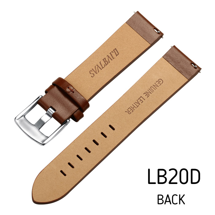 Svalbard leather watch strap LB20D (back side)