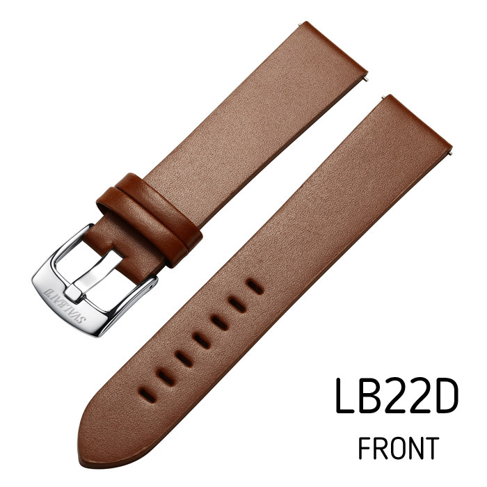 Svalbard leather watch strap LB22D (front side)