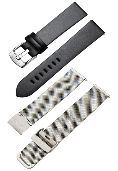 Original replacement Svalbard leather and metal straps