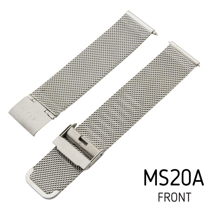 Svalbard mesh metal watch band MS20A (front side)