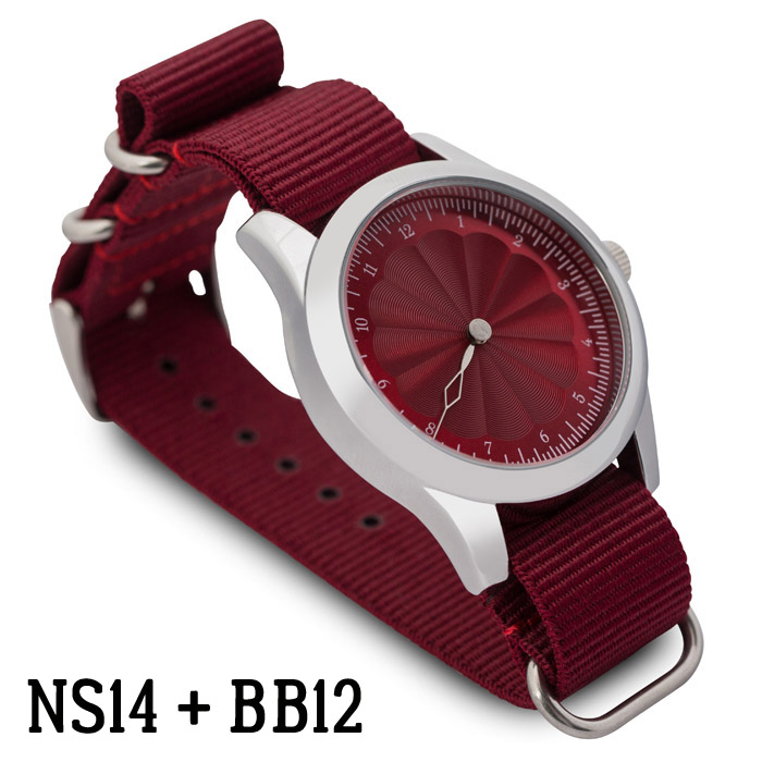 Svalbard NATO watch strap NS14 with Singular BB12 model sample