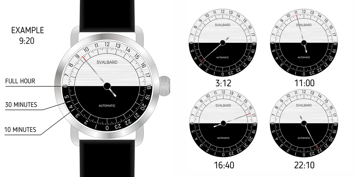 AUTOMATIC 24-HOUR SINGLE HAND WATCH