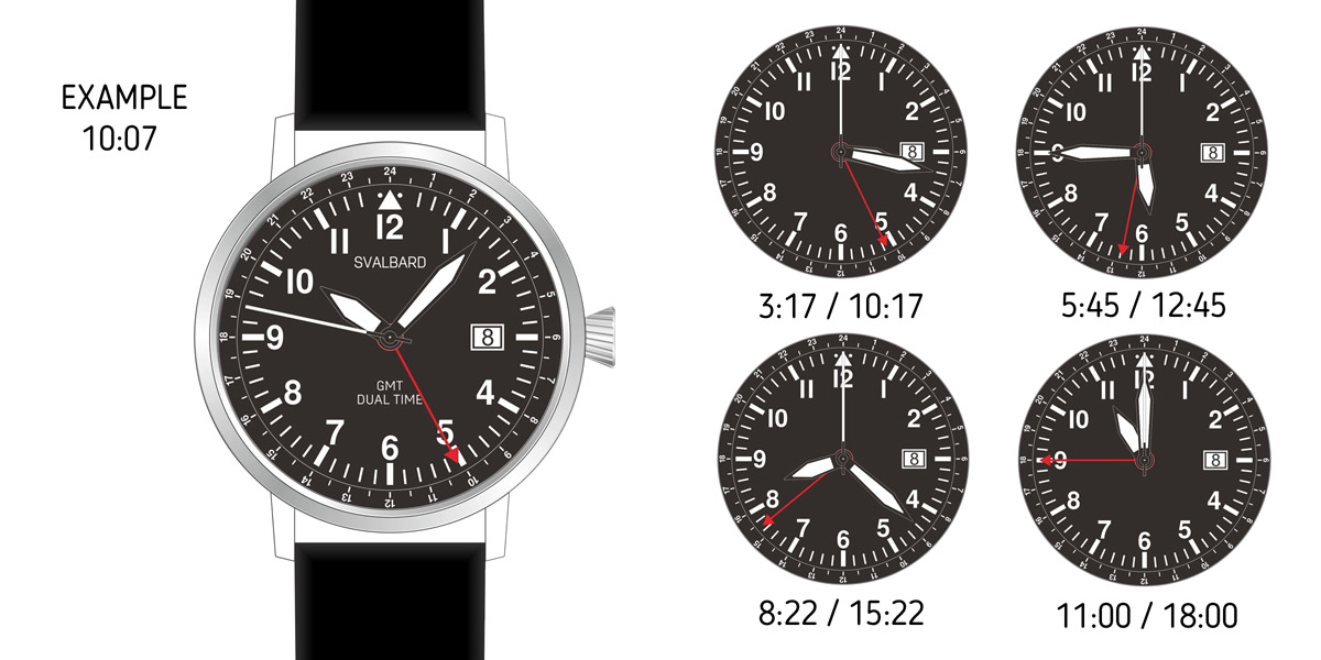 GMT (two time zones) WATCH