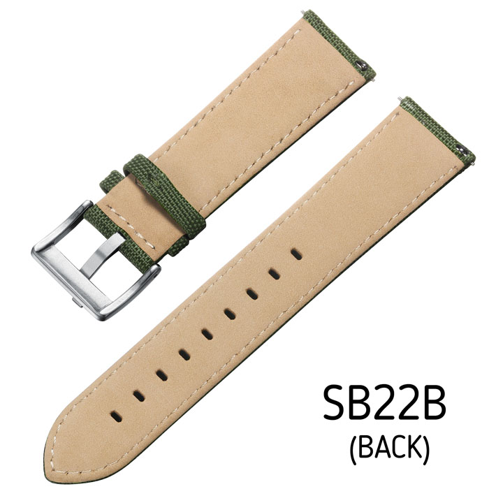 Svalbard canvas watch strap SB22B