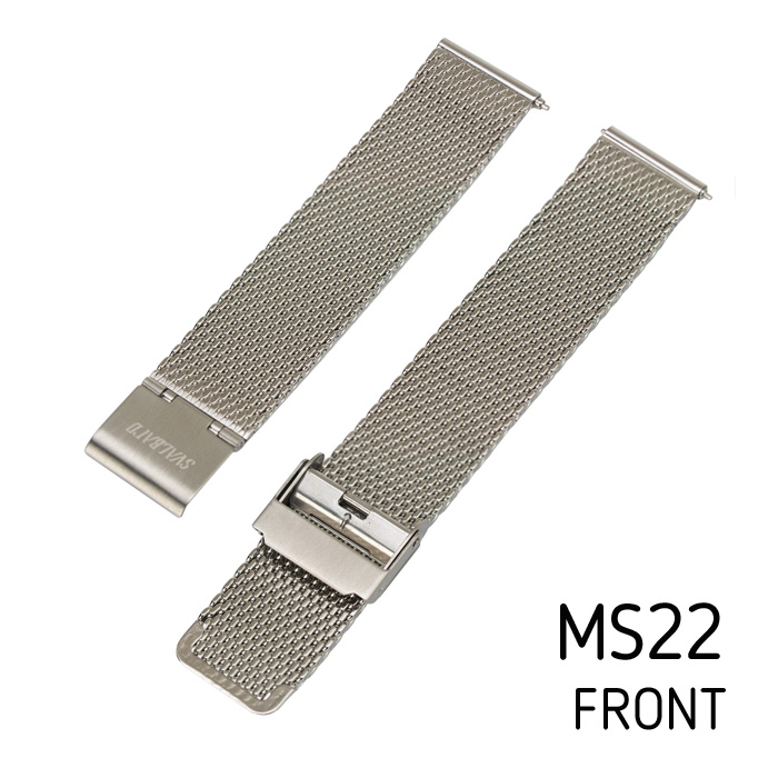 Svalbard mesh watch strap MS22 (front side)
